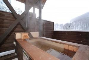 美月 露天風呂 冬