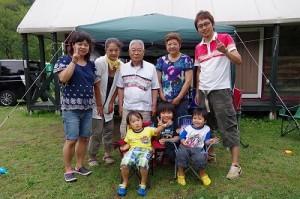 キャンプ 親子3代 子ども ファミリー