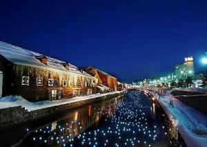 冬の流星 ゆき物語 小樽運河