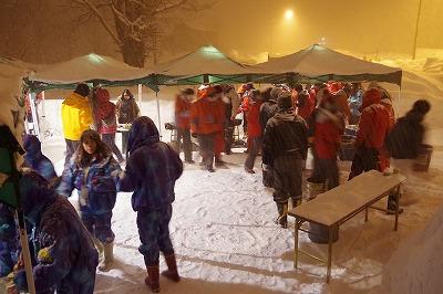雪あかり ボランティア 歓迎会 2014