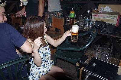 お客様 貸別荘 生ビール バーベキュー