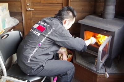 お客様 露天風呂 バーベキュー ファミリー 暖炉