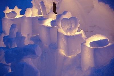 雪あかりの路 2015 スノーキャンドル
