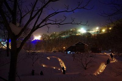 雪あかりの路 2015 朝里川温泉スキー場