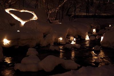 雪あかりの路 2015 朝里川
