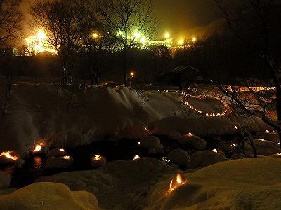 雪あかり 朝里川温泉
