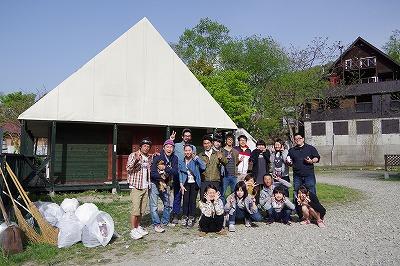 朝里川クリーンアッププロジェクト スナップ4 キャンプ場