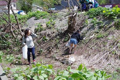 朝里川クリーンアッププロジェクト 作業2