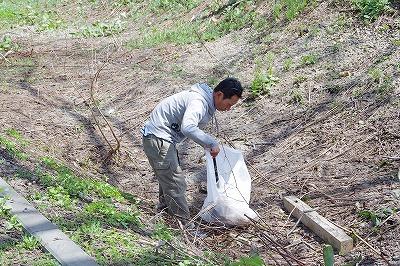 朝里川クリーンアッププロジェクト 作業1
