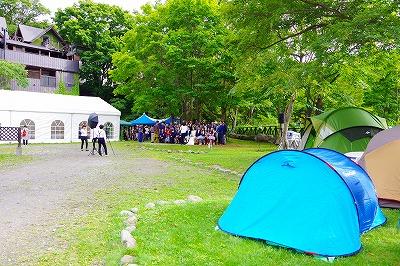 キャンプ ウエディング 結婚式