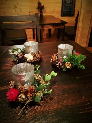 キャンドルリース 2015 クチル花店 qoulou cafe、コーローカフェ
