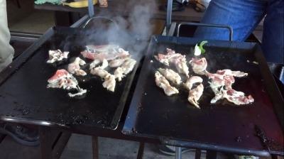 バーベキュー器材 新旧 焼き比べ お肉