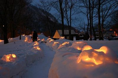 雪あかり 朝里川温泉会場