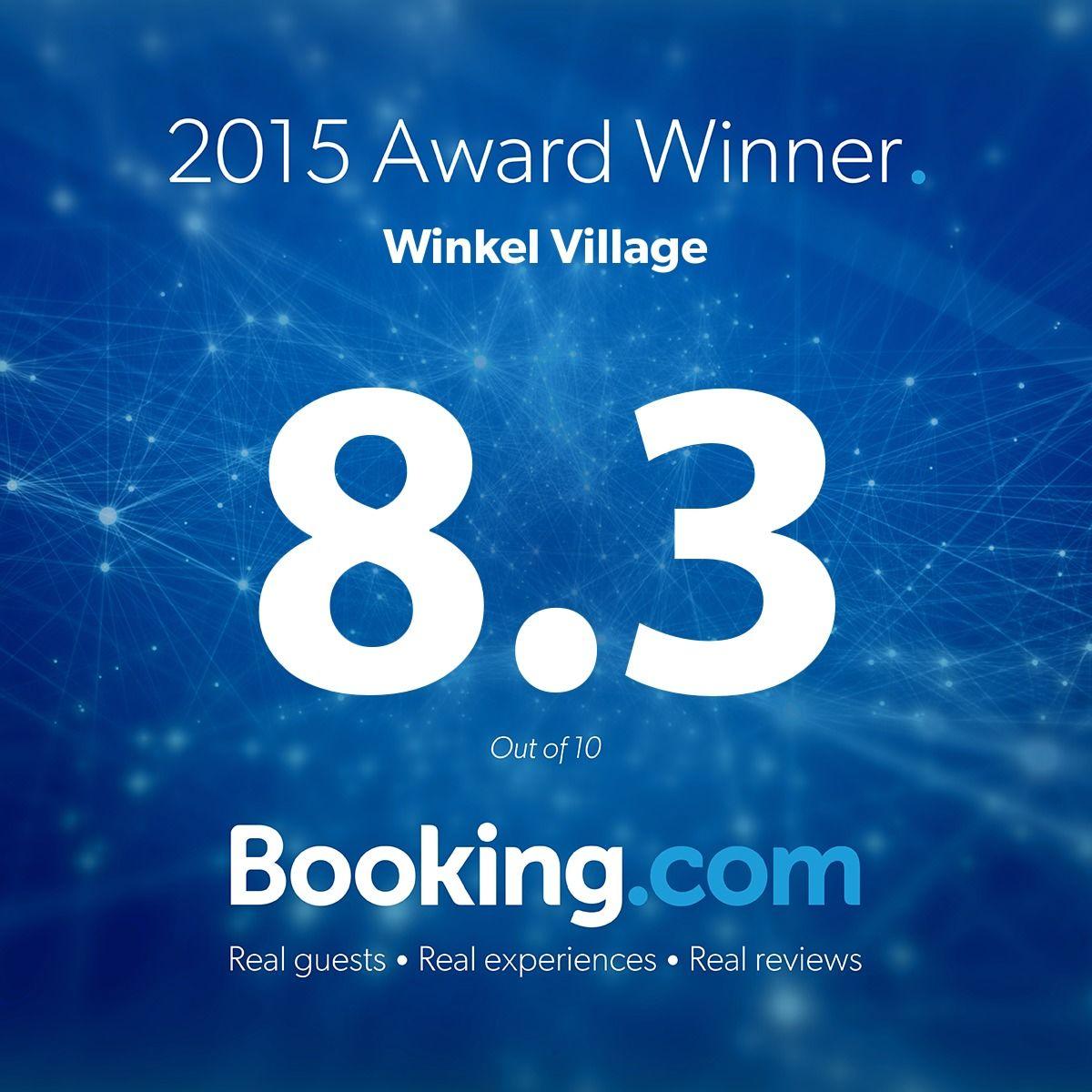 小樽朝里川温泉のウィンケルビレッジが、「Booking.com」の「クチコミアワード2015」を受賞!
