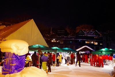 雪あかり ボランティア 歓迎会 雪中 バーベキュー 2016